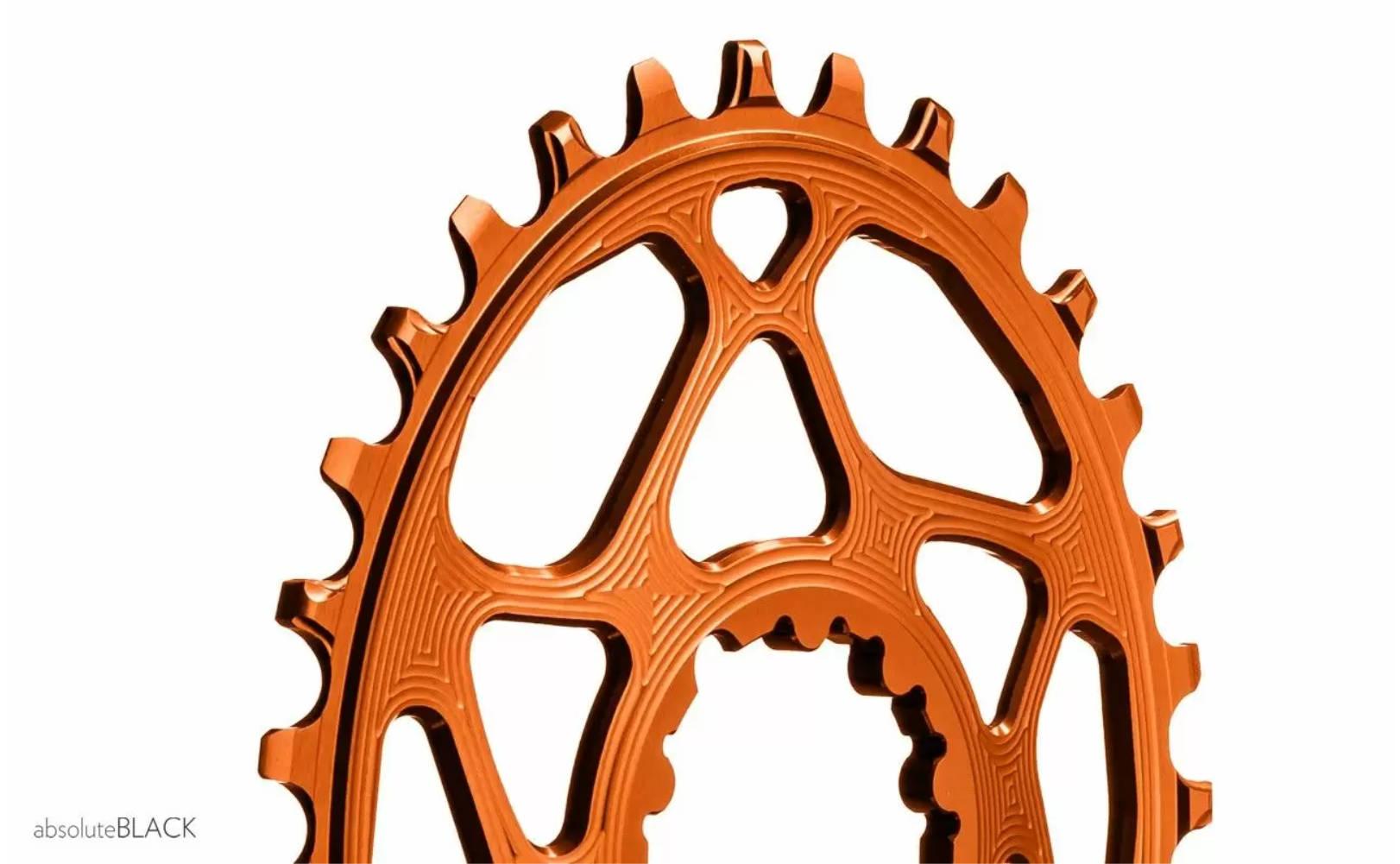 Chainring Absolute Black Oval SRAM DM Orange Boost 3mm Offset 32T
