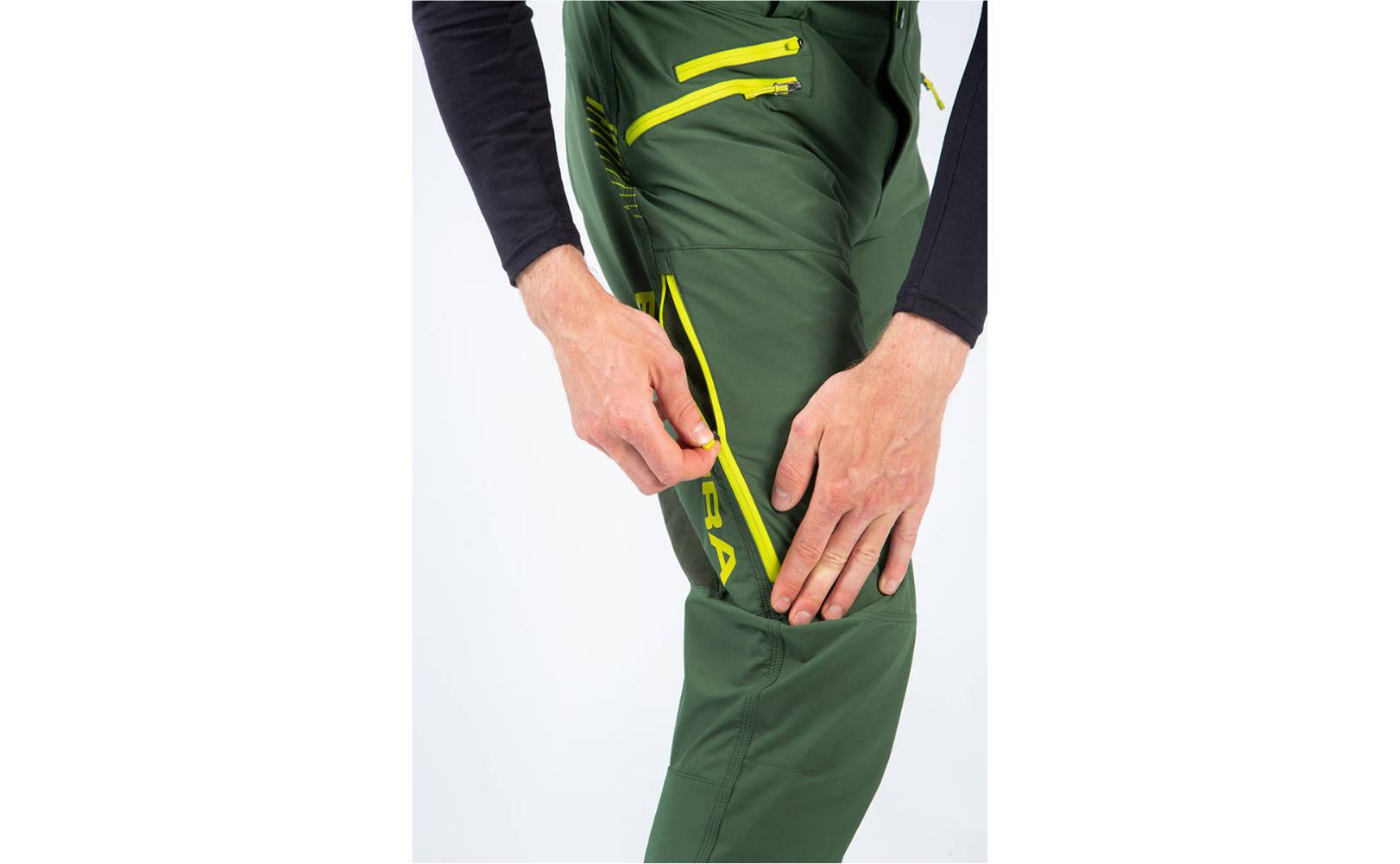 Endura SingleTrack II Trouser in Forest Green - side leg