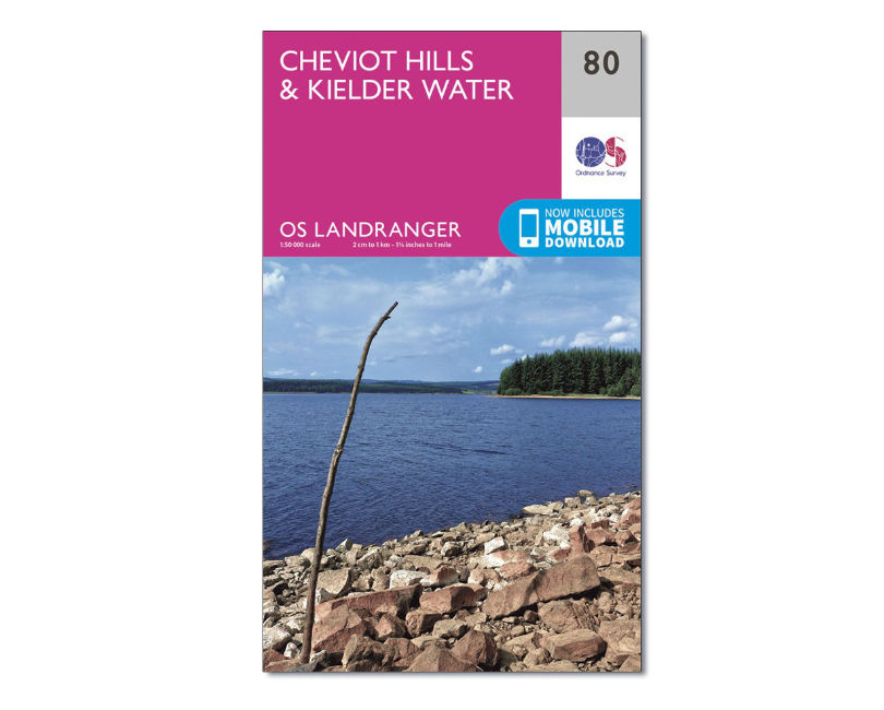 OS Landranger Sheet 80 - Cheviot Hills and Kielder Water