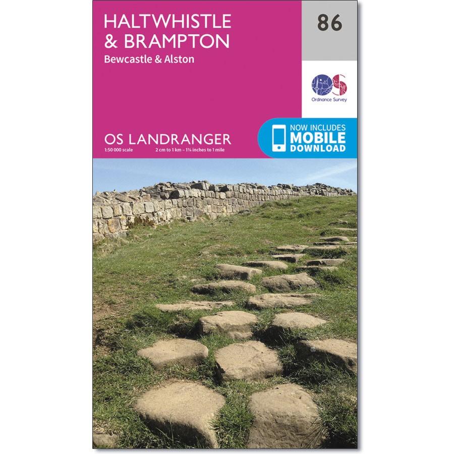 OS Landranger Sheet 86 - Haltwhistle and Brampton
