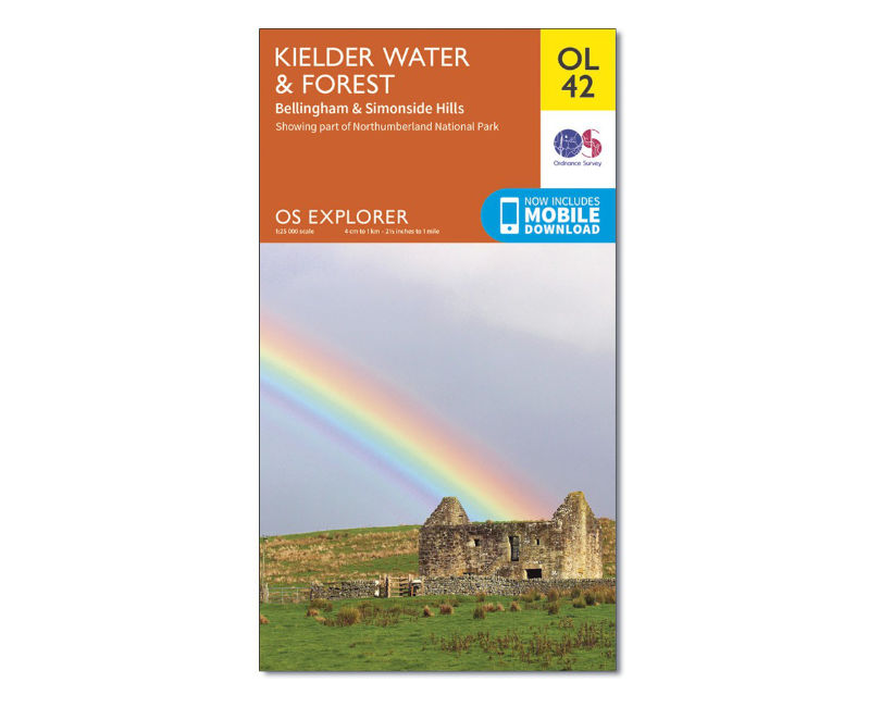 OS Explorer Map OL42 - Kielder Water and Forest