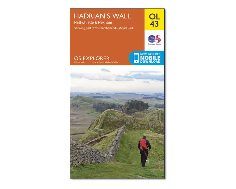 OS Explorer Map OL43 - Hadrians Wall