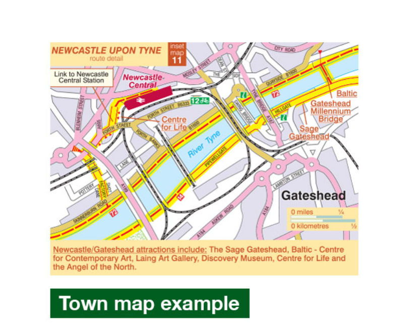 Hadrians Cycleway Route Map