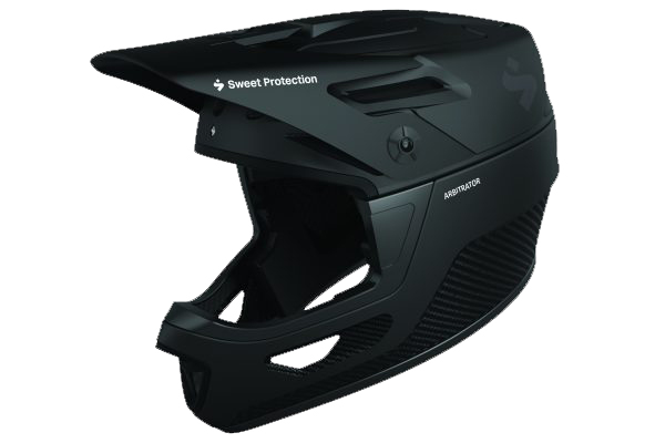 Angled view of the Arbitrator MIPS Downhill Helmet from Sweet Protection